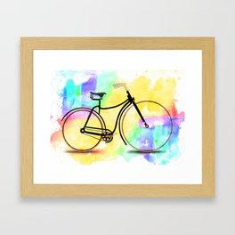 Pedal-driven beauty Framed Art Print