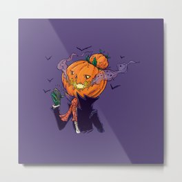 The Pumpkin Bun Metal Print
