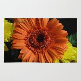 Orange Flower Rug
