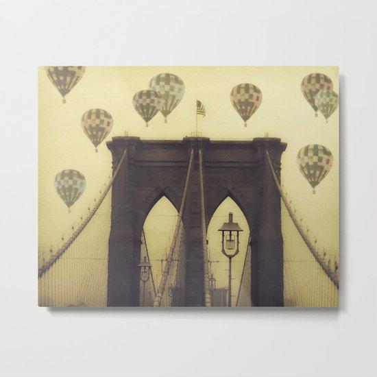 Balloons Over the Bridge Metal Print