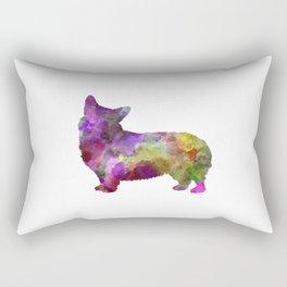 Welsh Corgi Cardigan in watercolor Rectangular Pillow