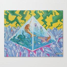 Sublimation / Pyramid Aquarium | Lightning | Amethyst Canvas Print