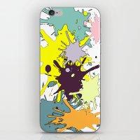 splatter iPhone & iPod Skins featuring Splatter by fauzita