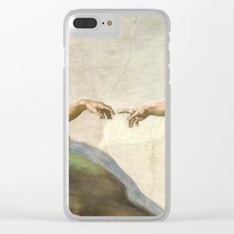 "Michelangelo ""Creation of Adam"" Clear iPhone Case"