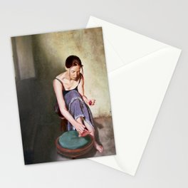 Painting Toenails Stationery Cards