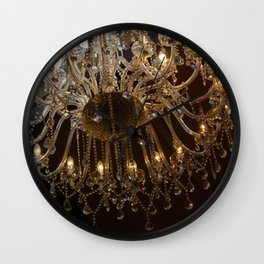 Glass Chandelier Wall Clock