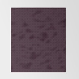 Dark Merlot Wine Circle Pattern Throw Blanket