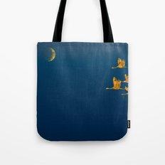 Moon-lit Flight (landscape) Tote Bag