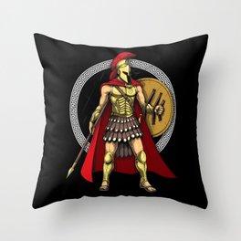 Spartan Warrior Throw Pillow