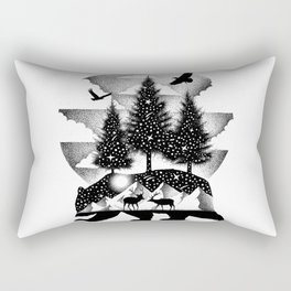 A NIGHT IN ALASKA Rectangular Pillow