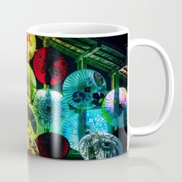 Japanese umbrellas colorful Coffee Mug
