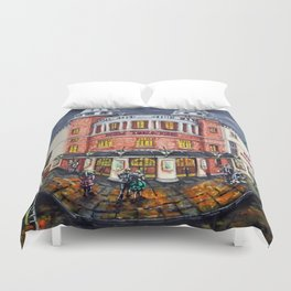 The New Theatre, Cardiff Duvet Cover