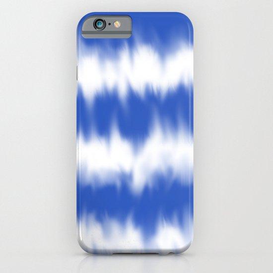 Blue tie dye iPhone & iPod Case