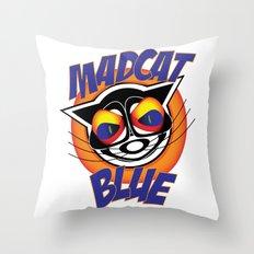 MadCat Blue Throw Pillow