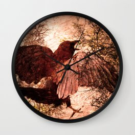 Crow Speach Wall Clock