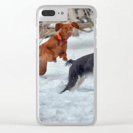 Jump And Run Clear iPhone Case