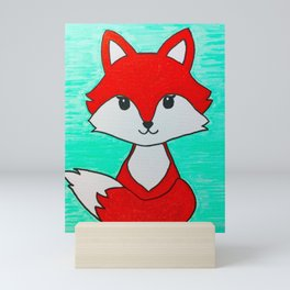 Baby fox Mini Art Print
