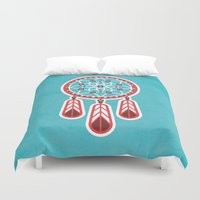 dreamcatcher Duvet Covers featuring Dreamcatcher by Ludivineem