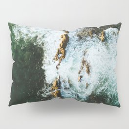 OCEAN - SEA - WATER - ROCKS - PHOTOGRAPHY Pillow Sham