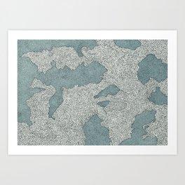 Murky Depths Art Print