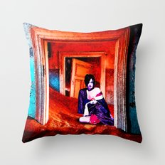 The Woman in the Dunes Throw Pillow
