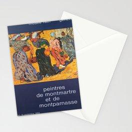 peintres de montmartre et de vintage Poster Stationery Cards