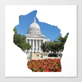 Beautiful Capitol Building in Wisconsin Canvas Print