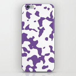 Large Spots - White and Dark Lavender Violet iPhone Skin