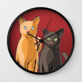 Roommate Cats Wall Clock