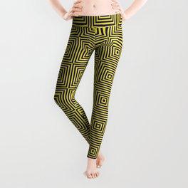 yellow  pattern with dynamic light Leggings
