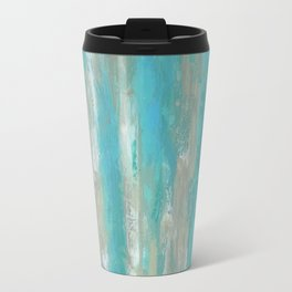 Teal Faux Travel Mug