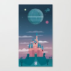 Sleeping Beauty and the Death Star Canvas Print