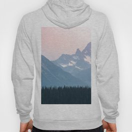 Pink Cascades - Mountain Nature Landscape Photography Hoody