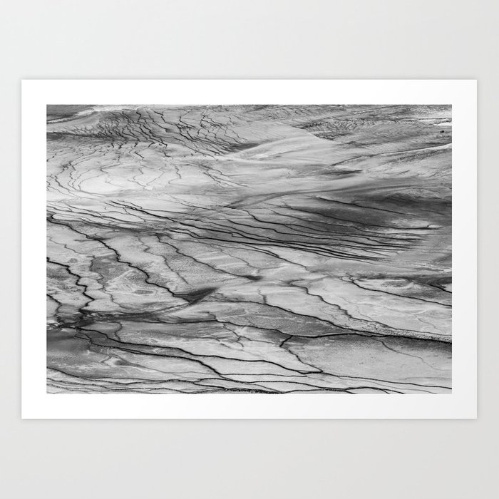 Left of the Grand Prismatic Spring Art Print