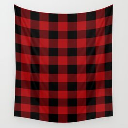 Red & Black Buffalo Plaid Wall Tapestry