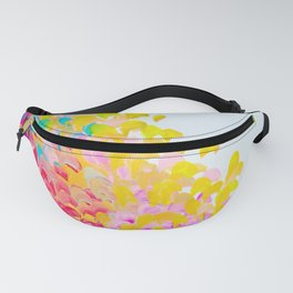 CREATION IN COLOR - Vibrant Bright Bold Colorful Abstract Painting Cheerful Fun Ocean Autumn Waves Fanny Pack