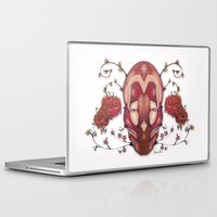 in the flesh Laptop & iPad Skins featuring Flesh&Roses by AP Illustration