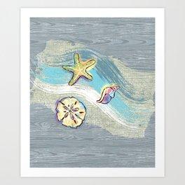 Starfish Beach-Comber Art Print