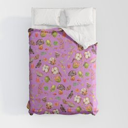 Cotton Fungi Berries mix - VOILET Comforters