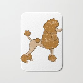 Cute Brown Poodle Gift For Dog Breed Poodle Lover T-shirt Design For the Poodle Enthusiast Bath Mat