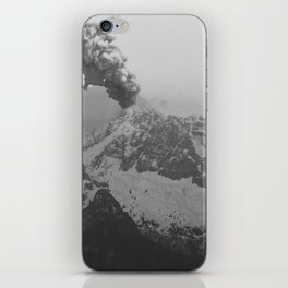 Volcano black and white iPhone Skin