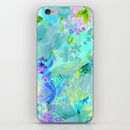 abstract floral iPhone Skin