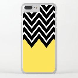 Zig-Zag/Chevron Decorative Art V.02 Clear iPhone Case
