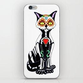 Sugar Skull Kitty Cat iPhone Skin