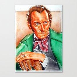 Peter cushing Canvas Print