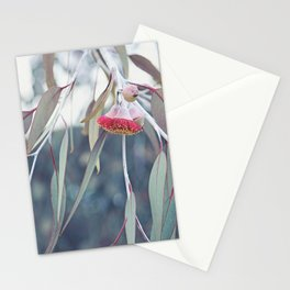 Red Silver Princess Blossoms Stationery Cards
