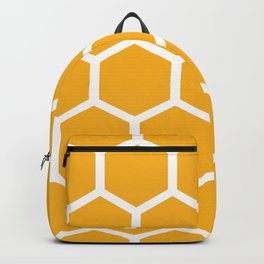 Honeycomb pattern - yellow Backpack