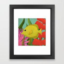 Yellow Fish In The Ocean Framed Art Print