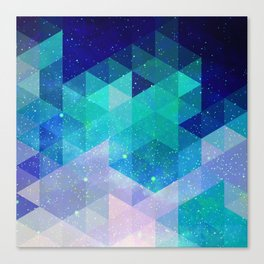 Geometric and electric Canvas Print