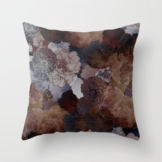 FLORAL EARTH Throw Pillow